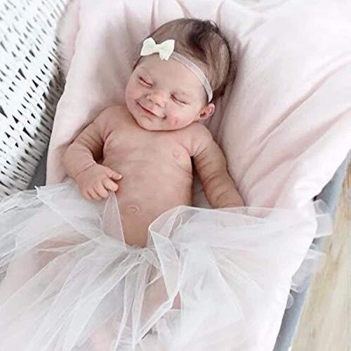 Muñeca Reborn Muñeca Niña Hecha a Mano Recién Nacida,22 Pulgadas 55 Cm Suave Cuerpo Completo Vinilo de Silicona Realista Muñecas de Bebé de La Vida Real Para La Colección de Niños a Partir de 3 años