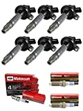 MCK 6pcs Ignition Coil Pack and Platinum Spark Plug Compatible with Ford Mustang Lincoln Mazda Mercury Edge Explorer F-150 Fusion MKS MKT MKX 2008-20016 2.7 3.7 3.5 V6 UF553 UF-553 UF-595 5C1652 E1053