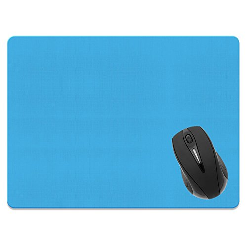 Extra Large (X-Large) Size Non-Slip Rectangle Mousepad, FINCIBO Solid Baby Blue Mouse Pad for Home, Office and Gaming Desk