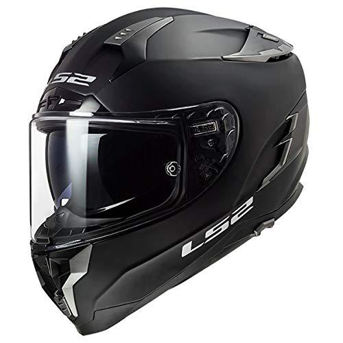 LS2 Helmets Challenger GT Full Face Street Helmet (Solid Matte Black - Medium)