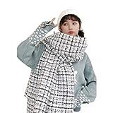 Manta Para Mujeres Tela escocesa larga Manta Chunky de gran tamaño invierno caliente de la caída de las mujeres cuadros regalos del abrigo del mantón de la bufanda de moda joven de vacaciones Cuellos