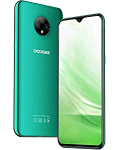 "immagine di DOOGEE X95 (2020) Smartphone 4G, 6.52"" FHD+ Display, 4350mAh Batteria Cellulari Offerte, 128GB Espandibili Cellulare, Sblocco Viso, 13MP+5MP, 16GB ROM, Dual SIM Telefoni Cellulari, Andriod 10, Verde"