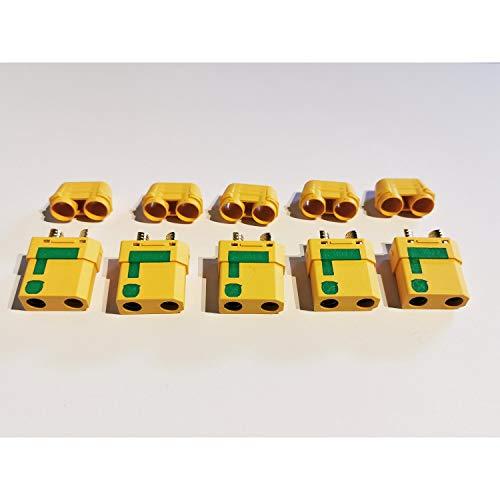 MR-Onlinehandel ® 5 Stück XT90-S Buchsen Goldkontakt Anti-Spark