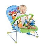 GOPLUS Babywippe, Babywiege, Schaukelwippe, Schaukelsitz, Babyschaukel, Babysitz mit Vibrationsfunktion, Musikbox (Giraffe)