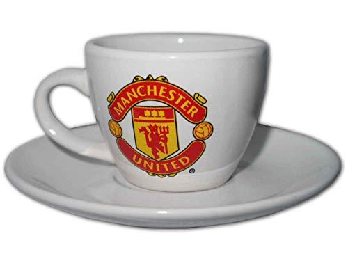 Forever Collectibles Manchester United Espresso Tasse Unterteller weiß MUFC Fanartikel Red Devils