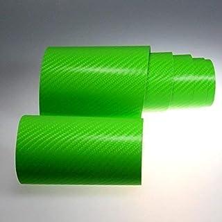 TipTopCarbon 6,58€/m² 4D Carbon Folie grün BLASENFREI 0,3m x 1,52m mit Luftkanäle Autofolie selbstklebend