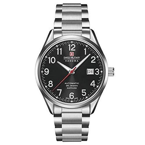 SWISS MILITARY-HANOWA Herren Analog Quarz Uhr mit Edelstahl Armband 05-5287.04.007