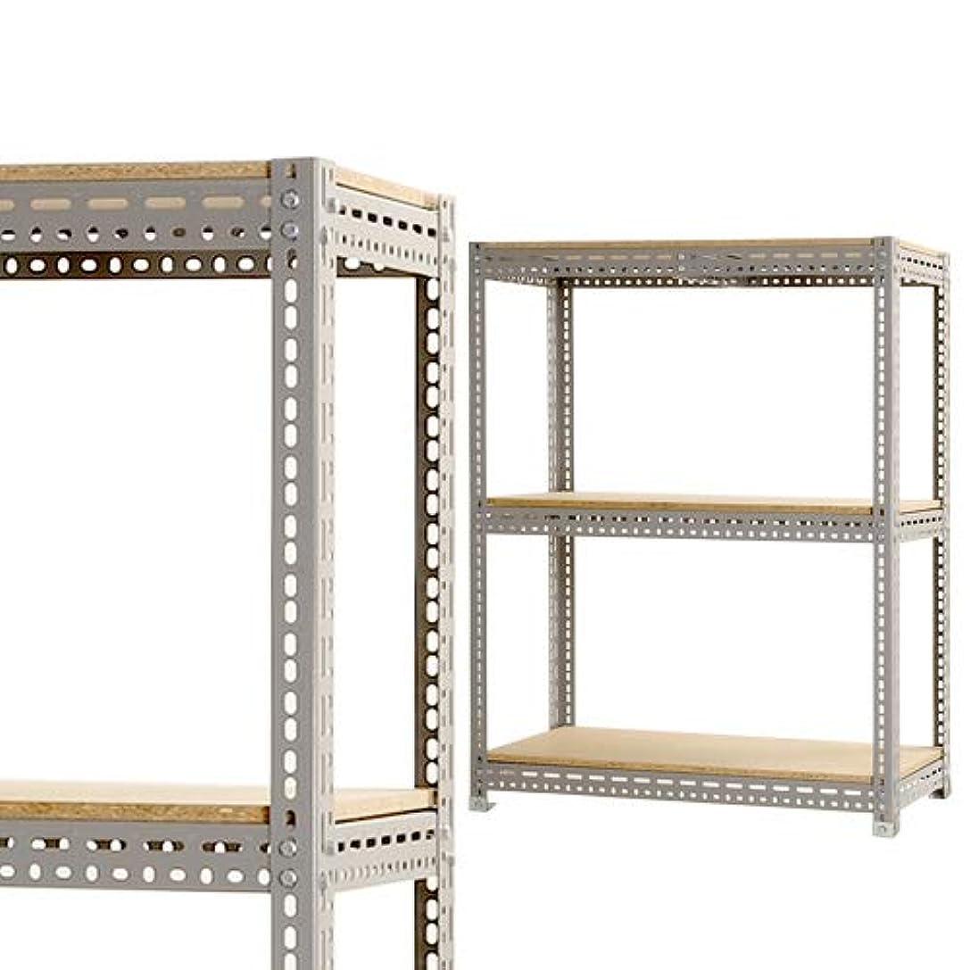 リングバックチェス根絶するボード棚 幅180×奥行30×高さ75cm 3段 グレー 200kg/段