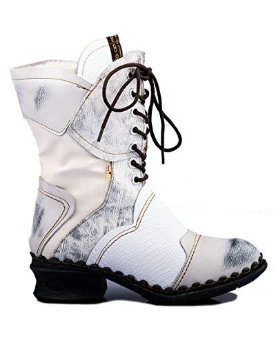 TMA 5766 Damen Stiefel Leder gefüttert weiß - EUR 39
