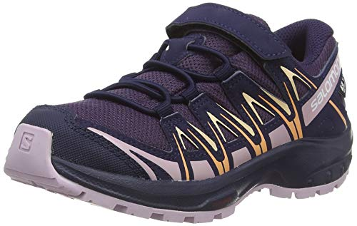 Salomon XA Pro 3D CSWP K, Zapatillas de Deporte, Morado (Sweet Grape/Evening Blue/Mauve Shadows), 30 EU