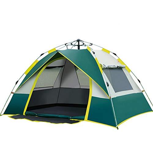 thematys Outdoorzelt leichtes Pop Up Wurfzelt Zelt in Grün-Weiß mit Tragetasche - perfekt für Camping, Festivals und Urlaub (3-4 Personen)