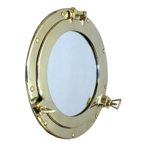 """ectoria sólido latón 11""""ojo de buey espejo ventana–Náutico barco decoración"""