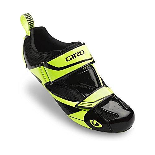 Giro 2016 Men's Mele Triathlon Cycling Shoes (Black/Highlight Yellow - 39)