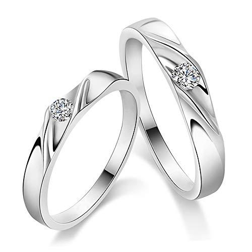 ペアリング 2本セット シルバー925 指輪 シンプル 上品 おしゃれ マリッジリング 結婚指輪 2本セット価格 Silver 925 カップル 恋人セット バレンタイン ホワイトデー 男性 女性 あらし S013 (メンズ17号, レディース15号)