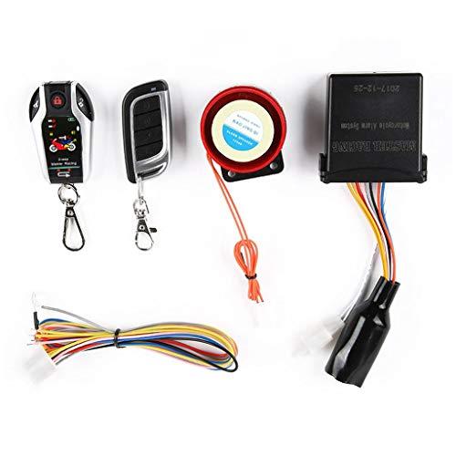 Vxhohdoxs - Alarma de motocicleta de dos vías, 12 V, sistema de seguridad antirrobo