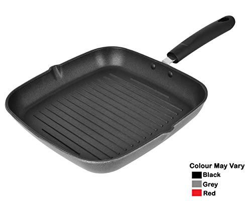 Nirlon Non-Stick Aluminium Grill Pan, Black