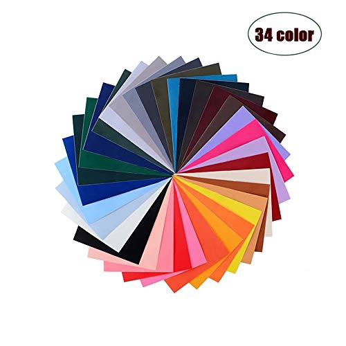 Global Mai Pegatinas de Parche Autoadhesivas-Parche de Nylon, 34 Trajes de Color, Adecuados Para Mochilas de Tela Lisa, Carpas, Paraguas y Otros Materiales de Nylon.