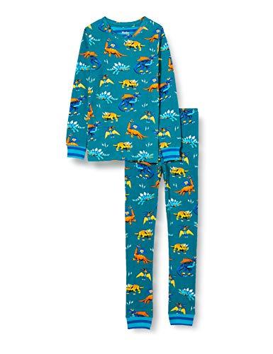 Hatley Organic Cotton Long Sleeve Printed Pyjama Set Juego de Pijama, Superhéroe Dinosaurios, 4 Years para Niños