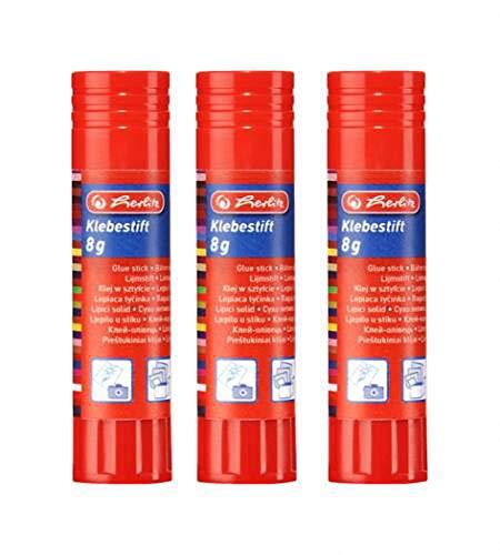 Klebestift (Büro) 8g lösungsmittelfrei farblos 3er-Pack