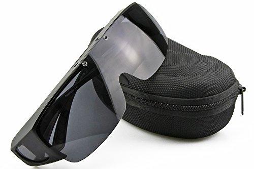 XD'S 偏光オーバーグラス 偏光サングラス 眼鏡 の上からかけられる 跳ね上げ式 サイクル、釣り、ランニング、野球ブラック (ブラック)