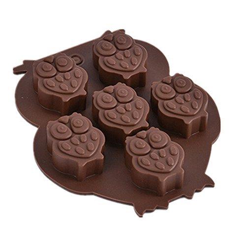 Nicebuty Chouette formes Coque en silicone Chocolat Dessert Savon au crayon Moule Décoration de gâteaux Glace réutilisable