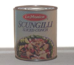 Pre-cooked. Ready to eat from the can. Scungilli is a large spiral shelled mollusk.