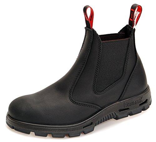 RedbacK BUSBBK Work Boots Arbeitsschuhe mit Stahlkappe aus Australien Unisex - Black - mit schwarzer Sohle + Schuhlöffel (07.5/41.5)