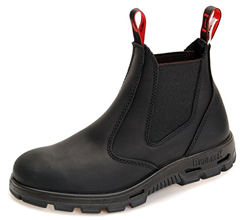 Redback BUBBK Offroad Chelsea Boots - Arbeitsschuhe Work Boots Aus Australien - Unisex - Schwarz (Black), 44 EU (10 UK)