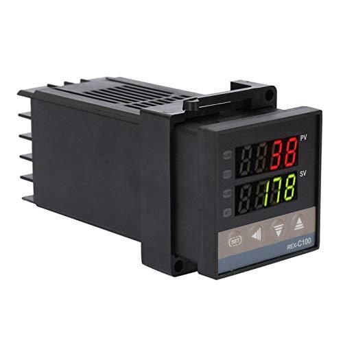 Kit de controlador de temperatura, controlador de temperatura digital REX-C100, para la industria química Moldeo por inyección AC110V-240V 0 ℃ ~ 1300 ℃