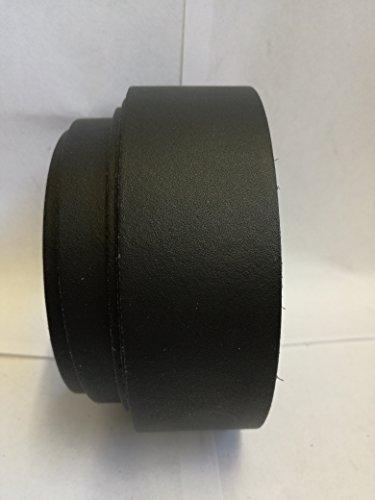 Lederriemen Rindleder Standard Echtleder Gürtelleder Spaltleder (1,5cm x 135 cm, schwarz)