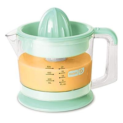 Dash Citrus Juicer Extractor: Compact Juicer for Healthy Juice, Oranges, Lemons, Limes, Grapefruit & other Citrus Fruit with Easy Pour Spout + 32 oz Pitcher