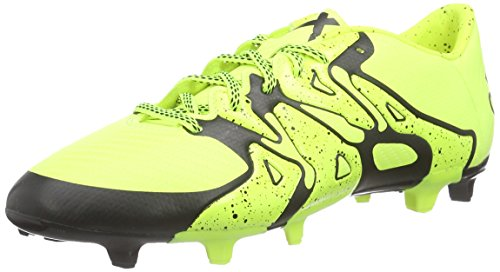 adidas Performance Herren X 15.3 FG/AG Fußballschuhe, Gelb (Solar Yellow/Solar Yellow/Core Black), 42 2/3 EU