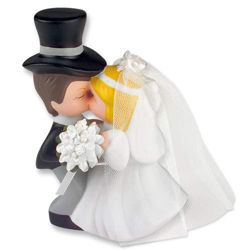 Günthart Kissing Porcelain Bridal Couple