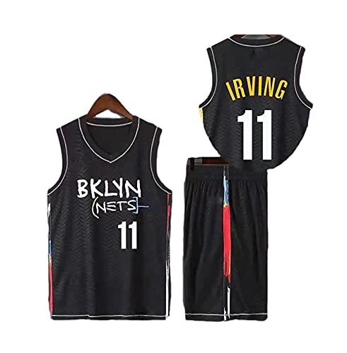 TIEON Adecuado para Nets Durant No. 7 Irving No. 11 No. 13 Harden Uniforme de Baloncesto, Traje de pantalón Corto de Baloncesto 3XL F