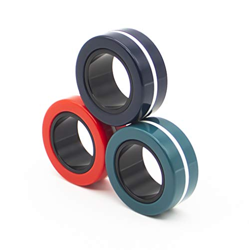 Doli Yearning Fingers Magnetic Rings Fidget Spinner Toy | Stress, Anxiety Relief Magnetic Spinner...