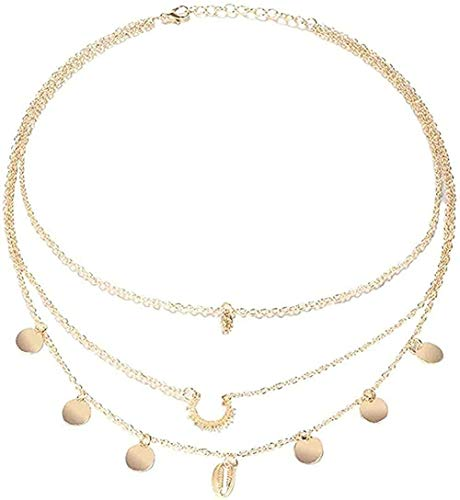 ZJJLWL Co.,ltd Collar Vintage Collar Conch Shell Collar para Mujer Forma Simple Colgante Conch Ocean Beach Jewelry
