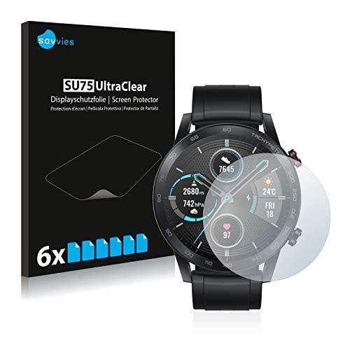 savvies 6-Pezzi Pellicola Protettiva Compatibile con Honor Watch Magic 2 (46 mm) Protezione Schermo Trasparente