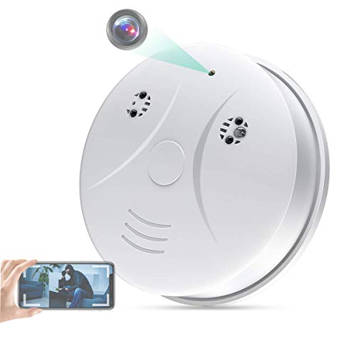 WiFi Smoke Detector Camera LMGL HD 1080P Mini Security Camera Wireless Hidden, for Home Office with Night Vision, Motion Detection, Real-time Video
