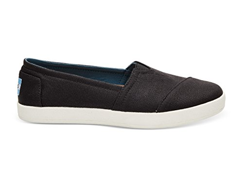 TOMS Black Coated Canvas Womens Classic 10006322 (Size: 7.5)