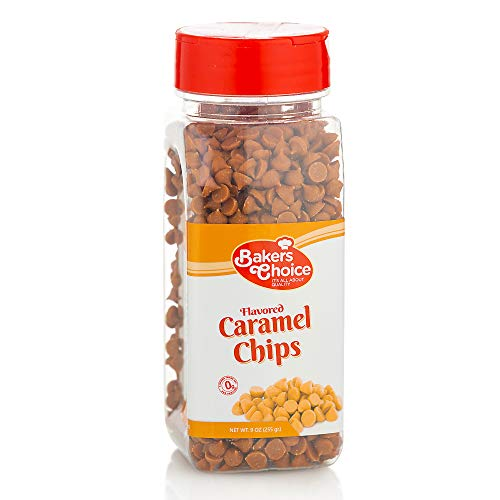 Caramel Flavored Chocolate Chips  Non Dairy Kosher  9 oz  Baker#039s Choice
