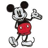 Disney © Mickey Mouse 90 Jahre - Aufnäher, Bügelbild, Aufbügler, Applikationen, Patches, Flicken, zum aufbügeln, Größe: 6,0 x 8,0 cm
