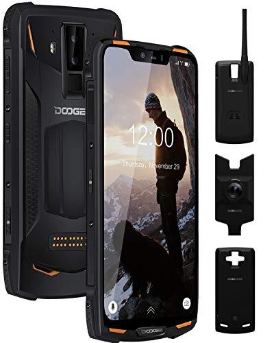 Móvil Resistente, DOOGEE S90 C Super Telefono Movil Todoterreno 4G, 4+128GB, IP68/IP69K Smartphone Android 9.0, 6,18 Inch 5050mAh+5000mAh, Caméras 16MP+8MP+8MP, GPS, NFC