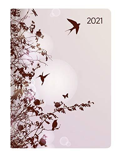 Alpha Edition - Agenda Giornaliera Style 2021, Formato Tascabile 10,7x15,2 cm, Colibrì, 352 Pagine