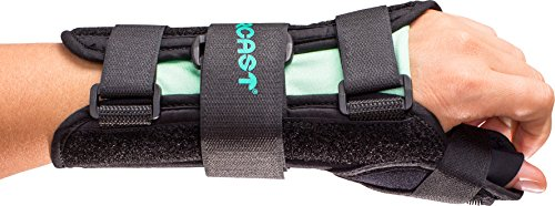 Aircast A2 Wrist Support Brace with Thumb Spica: Left Hand, Medium
