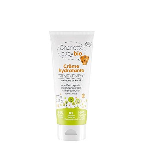 Charlotte Baby Bio - Les Soins Bio pour Bébé - Crème Hydratante Bio Bébé - Au Beurre de Karité - Hypoallergénique - Apaise et Nourrit - Fabriqué en France - Certifié Bio - 100 ml