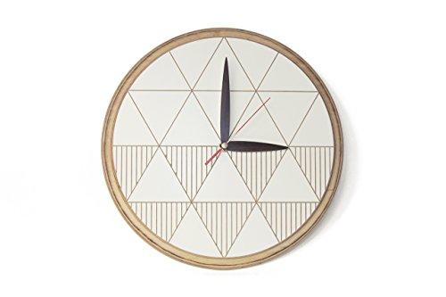 Moderne Holz Uhr - einzigartige Wanduhr -Moderne Uhr aus Holz - Moderne hölzerne Uhr - Wanduhren weiß - Wanduhren aus Holz - Großeltern Geschenk