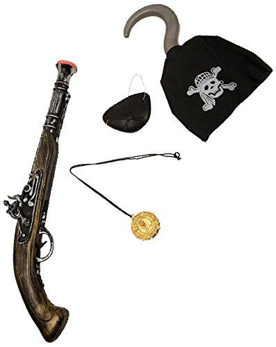 Viving Costumes Pistolet de Pirate avec Coussinet oculaire et Crochet, 201503, Multicolore, Taille Unique