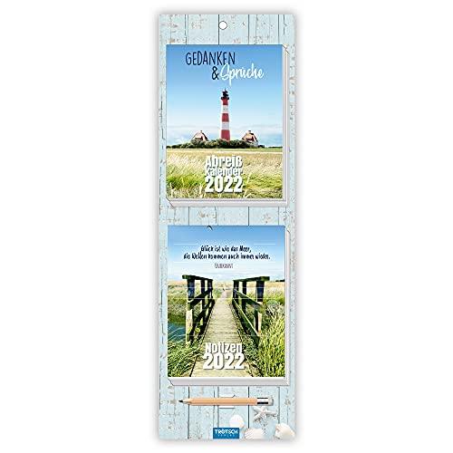 Trötsch Abreisskalender mit Notizblock und Stift 2022: Wandkalender: 12 x 32 cm (Geschenkkalender)