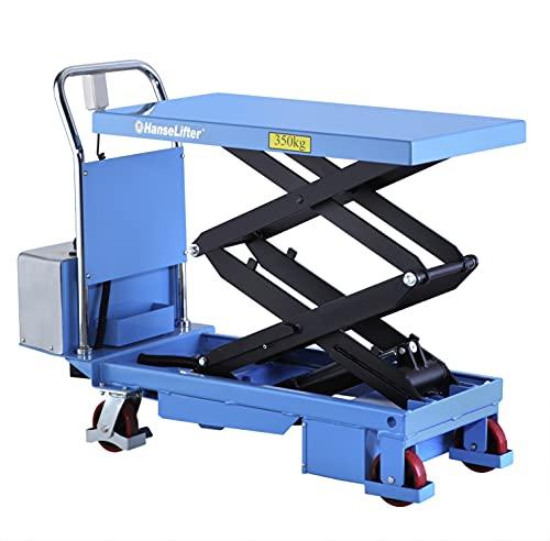 Elektronischer Hubtisch Hubtischwagen Scherenhubtisch mit Doppelschere 350 kg - Hubhöhe: 1320 mm