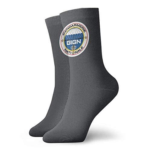 Lsjuee Grupo de intervención de la gendarmería nacional Unisex Crew Fashion Novedad Calcetines Calcetines de vestir Calcetines divertidos